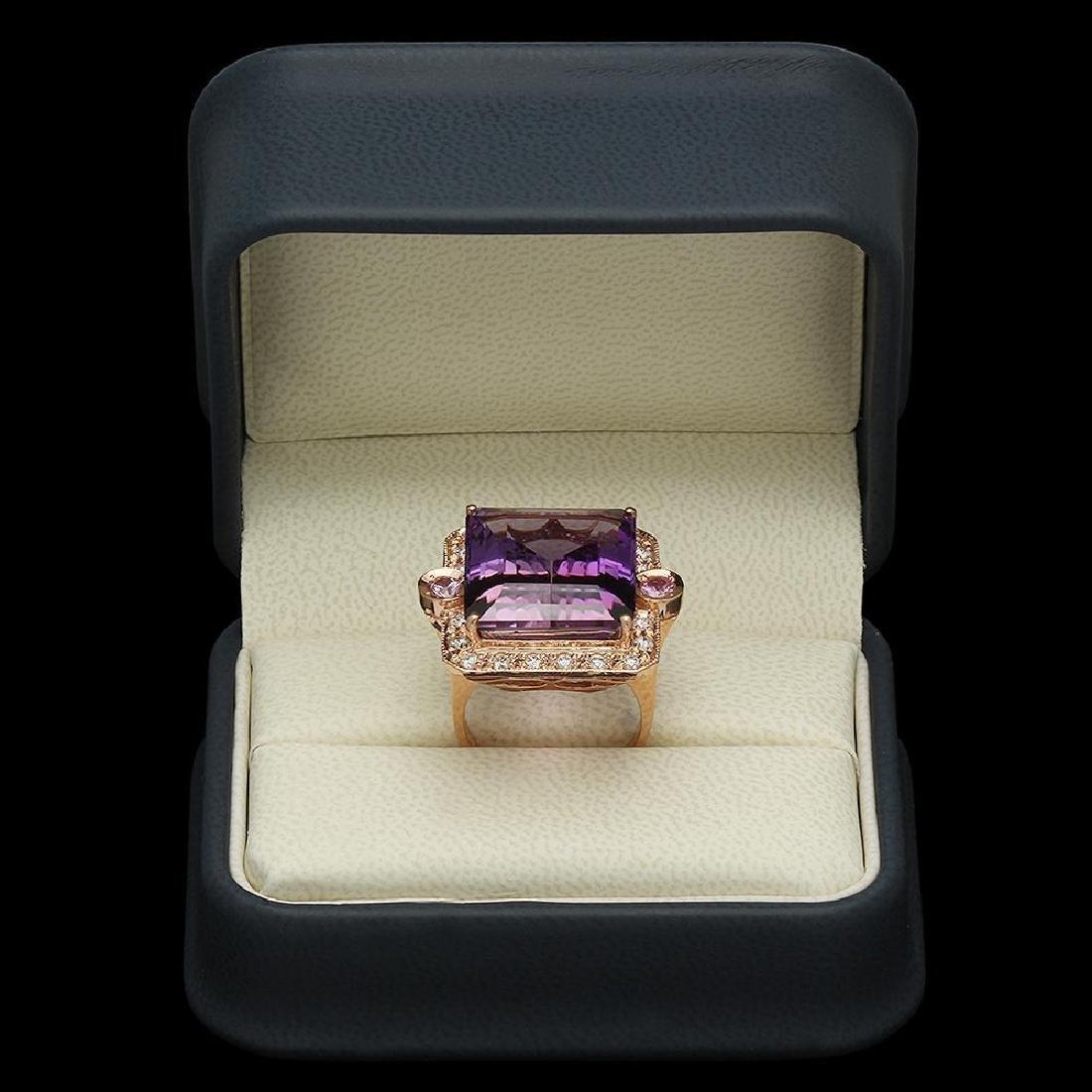 14K Gold 25.07ct Ametrine 0.40ct Sapphire 1.00ct - 4