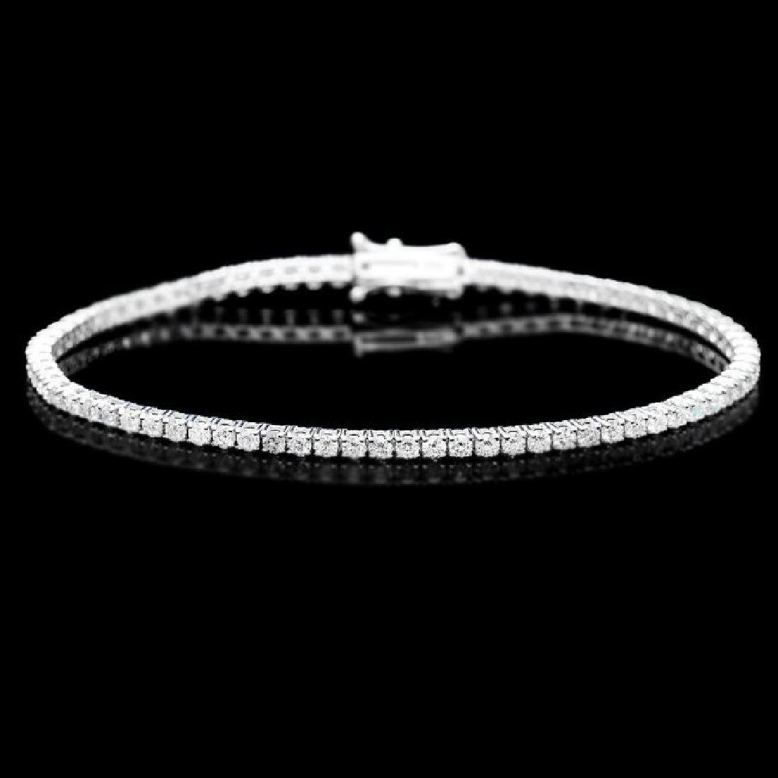 18k White Gold 3.20ct Diamond Bracelet