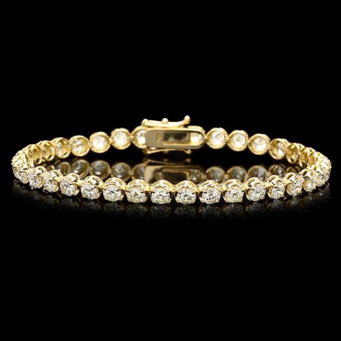 18k Yellow Gold 7.60ct Diamond Bracelet