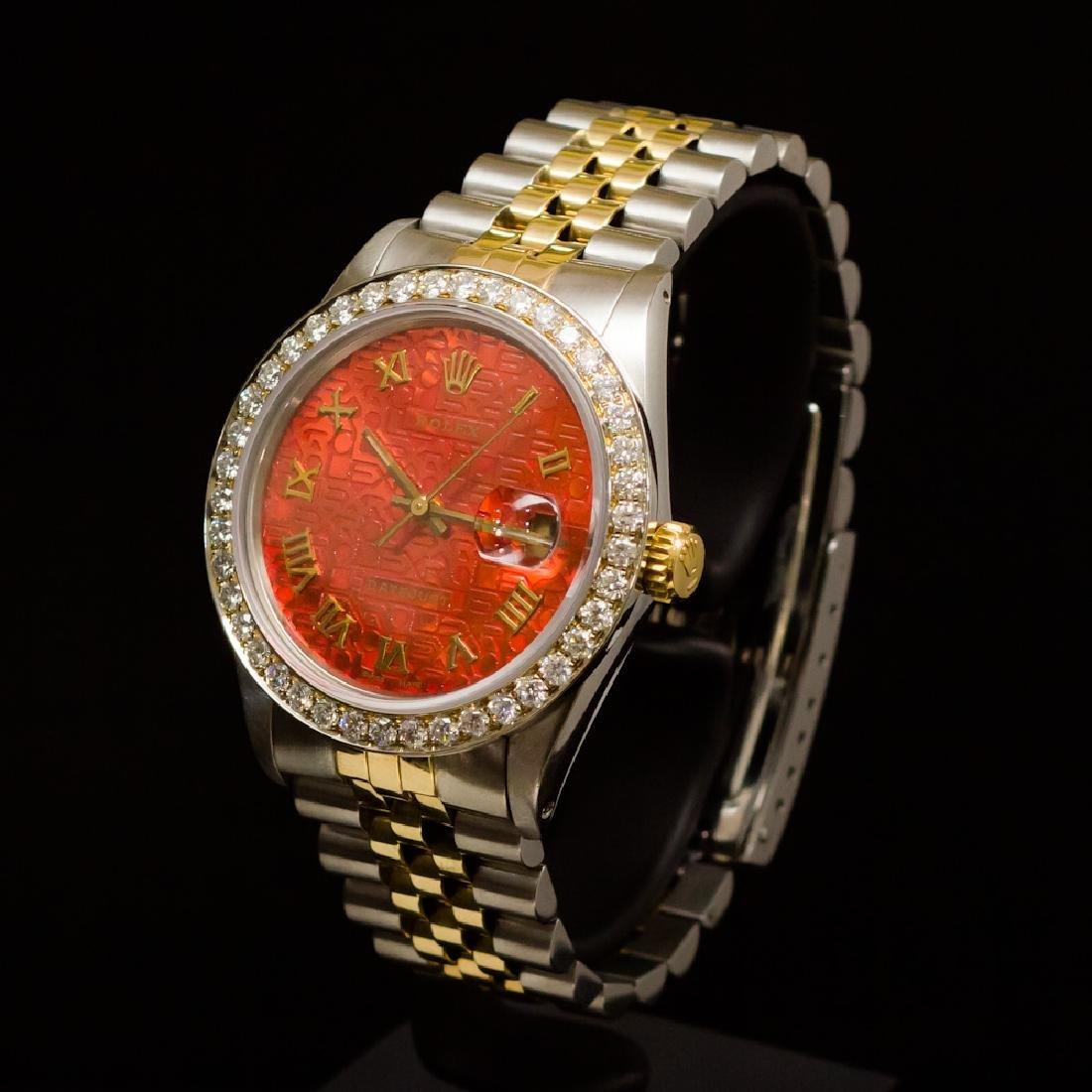 Rolex Two-Tone Datejust 36mm Custom Diamond Dial aprox. - 2