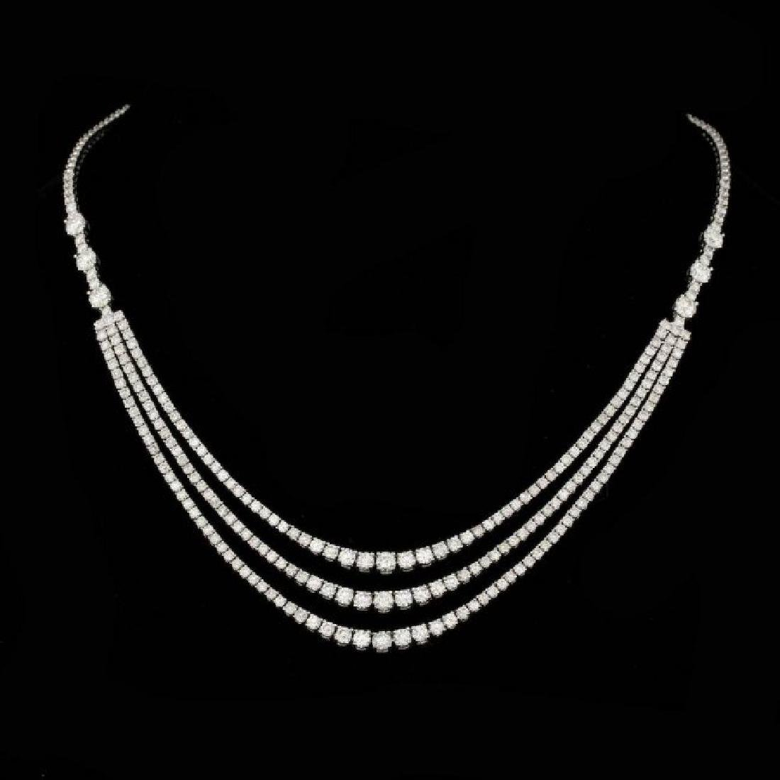 18k White Gold 12.60ct Diamond Necklace