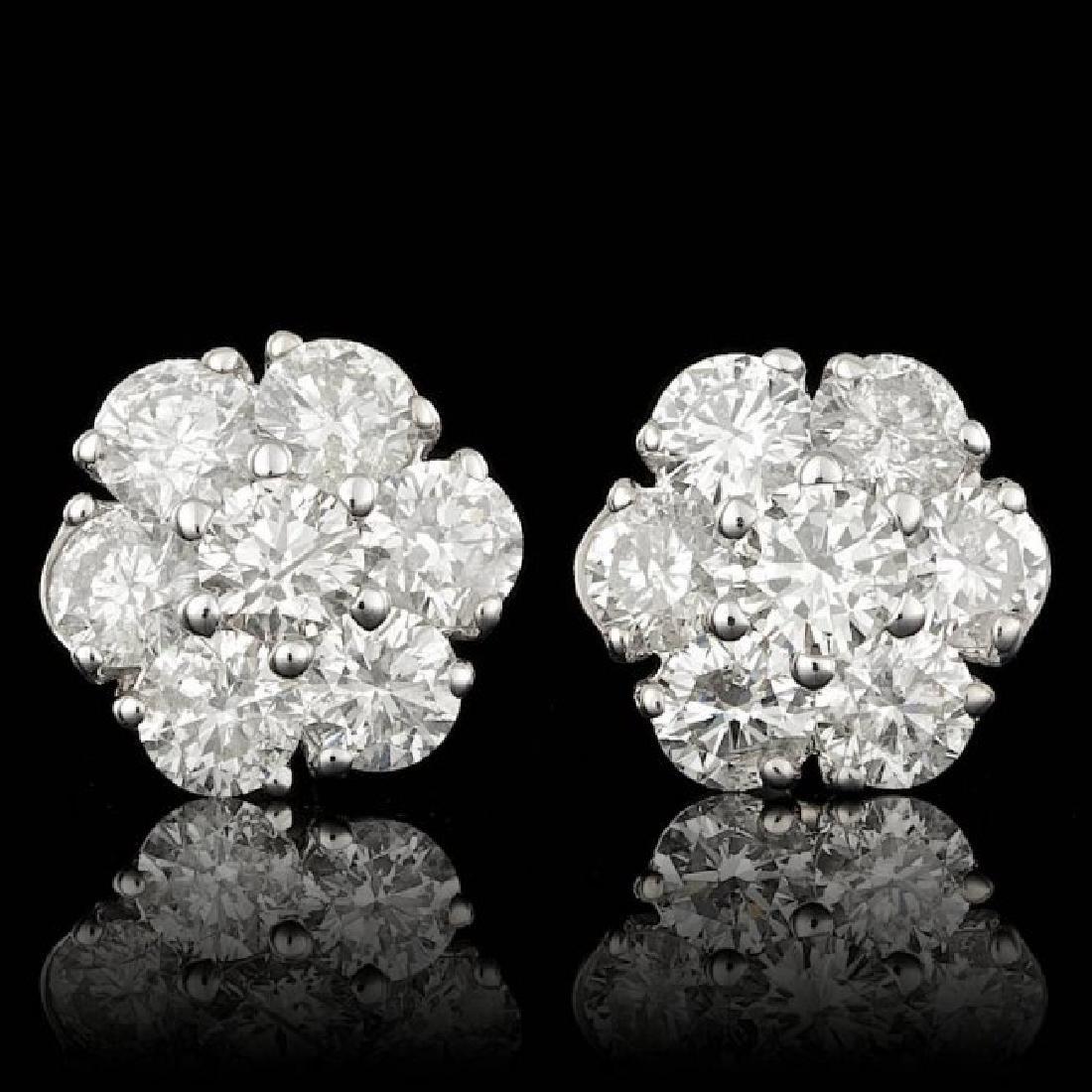 14k White Gold 2.35ct Diamond Earrings