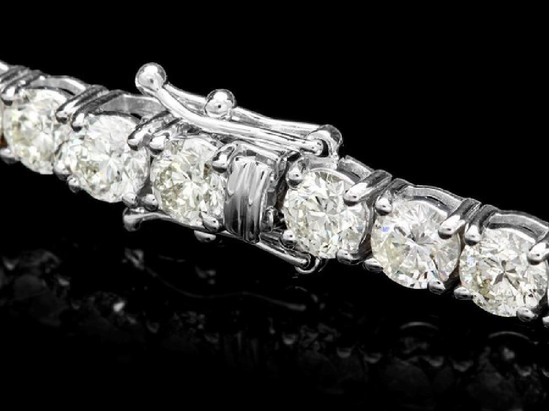 18k White Gold 13.00ct Diamond Tennis Bracelet - 2