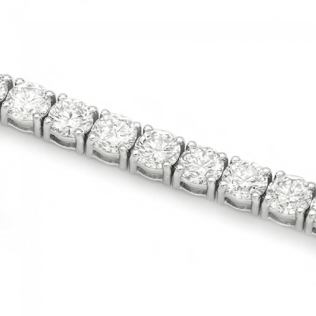 18k White Gold 13.00ct Diamond Tennis Bracelet - 3