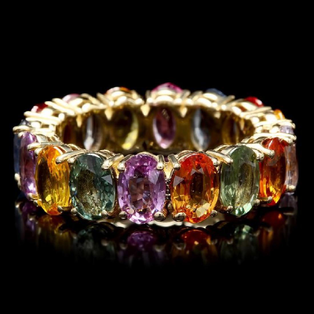 14k Yellow Gold 8.00ct Sapphire Ring