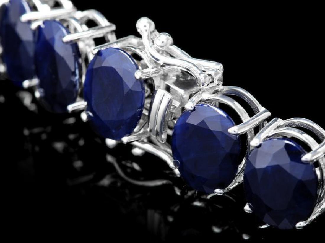 14k W Gold 164ct Sapphire 1.85ct Diamond Necklace - 5