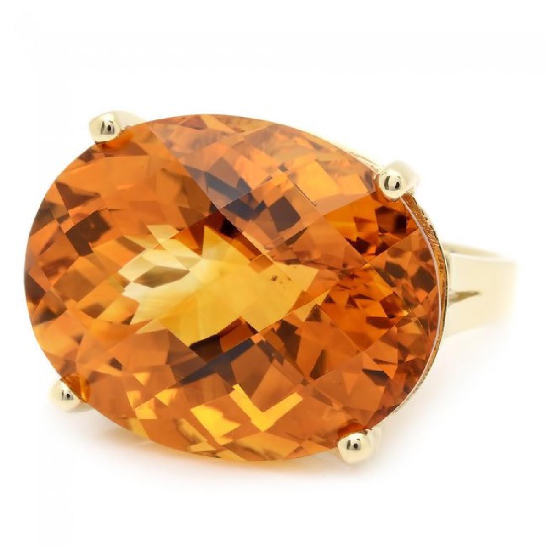 14k Yellow Gold 31.00ct Citrine Ring - 2