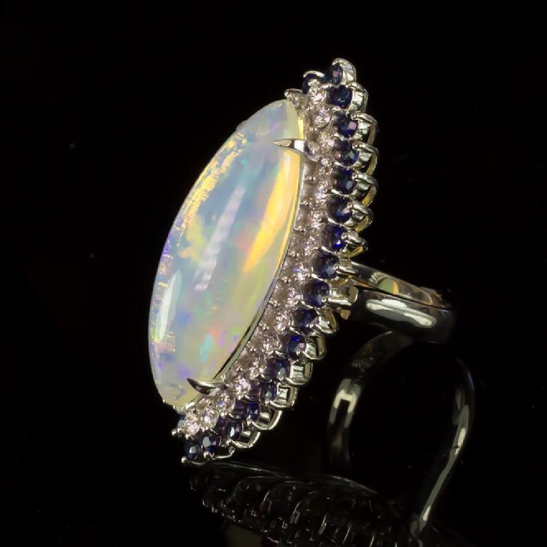 14K Gold 15.87ct Opal, 1.12ct Sapphire 1.85ct Diamond - 2
