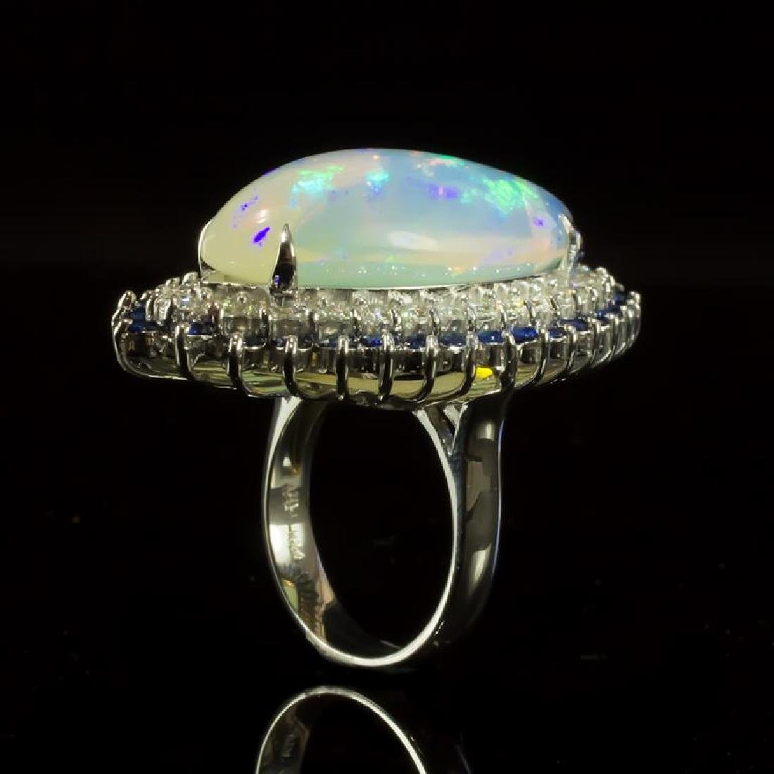 14K Gold 15.87ct Opal, 1.12ct Sapphire 1.85ct Diamond - 3