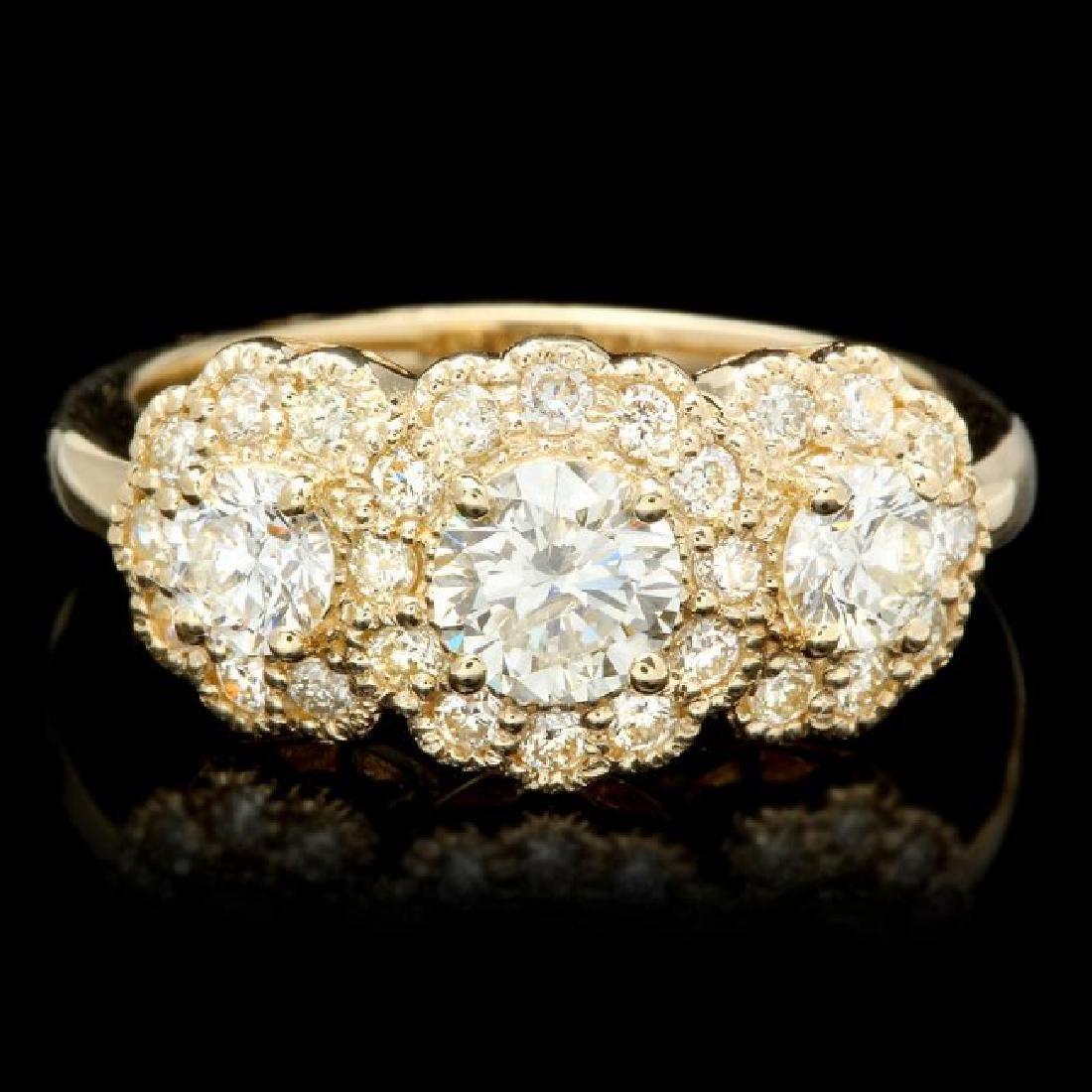 14k Yellow Gold 1.6ct Diamond Ring
