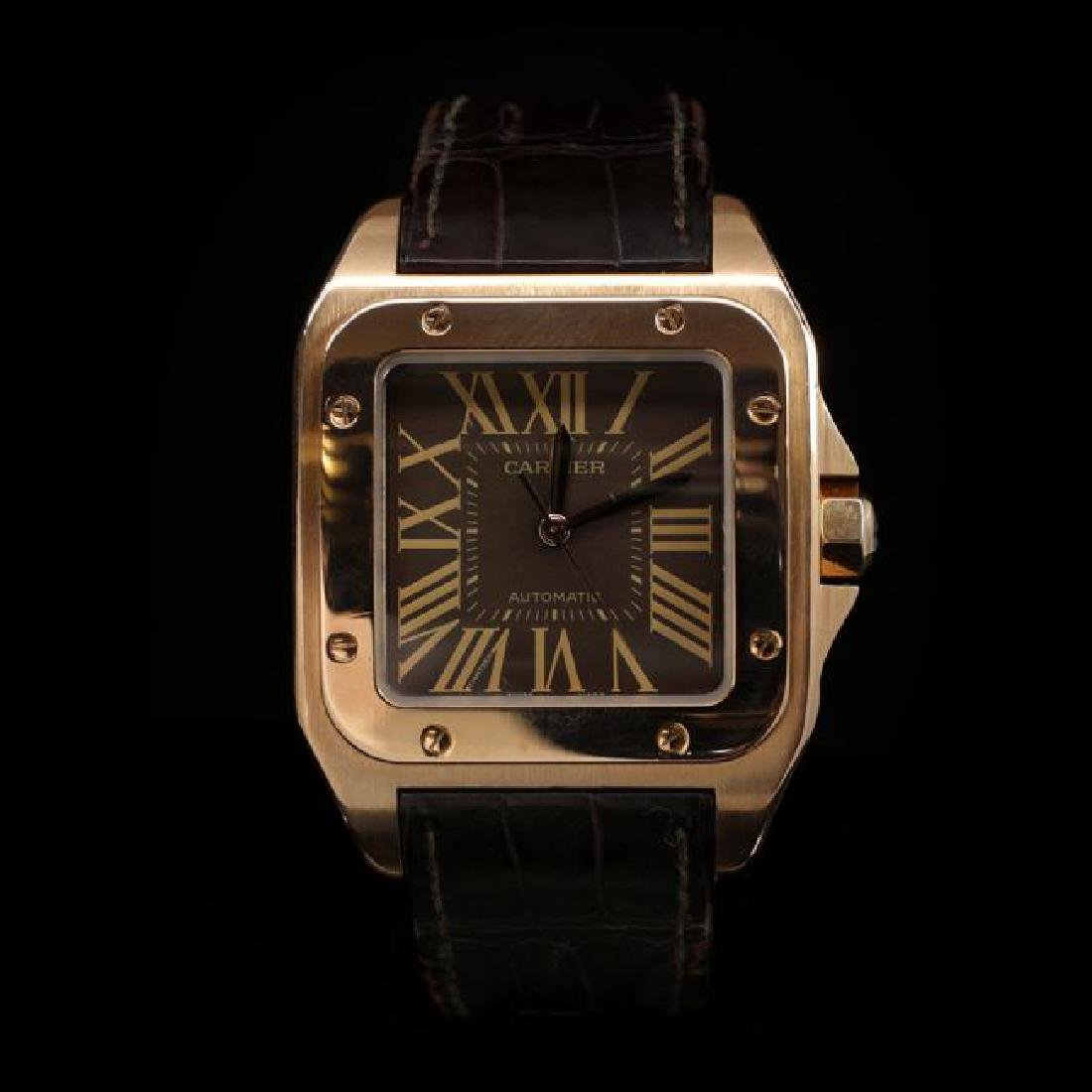 Cartier Santos 100mm in Rose Gold Limited Edition x/300