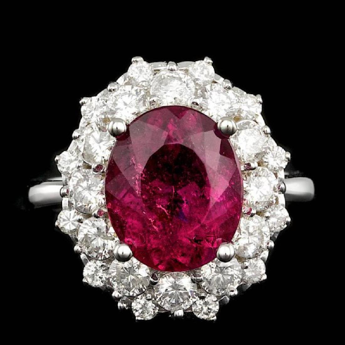 14k Gold 4.00ct Tourmaline 1.50ct Diamond Ring