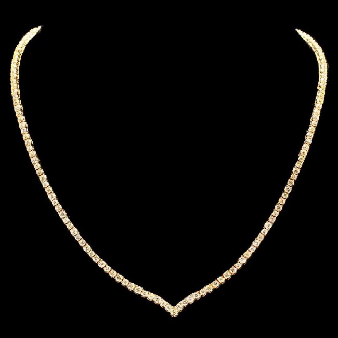 18k Yellow Gold 8.50ct Diamond Necklace