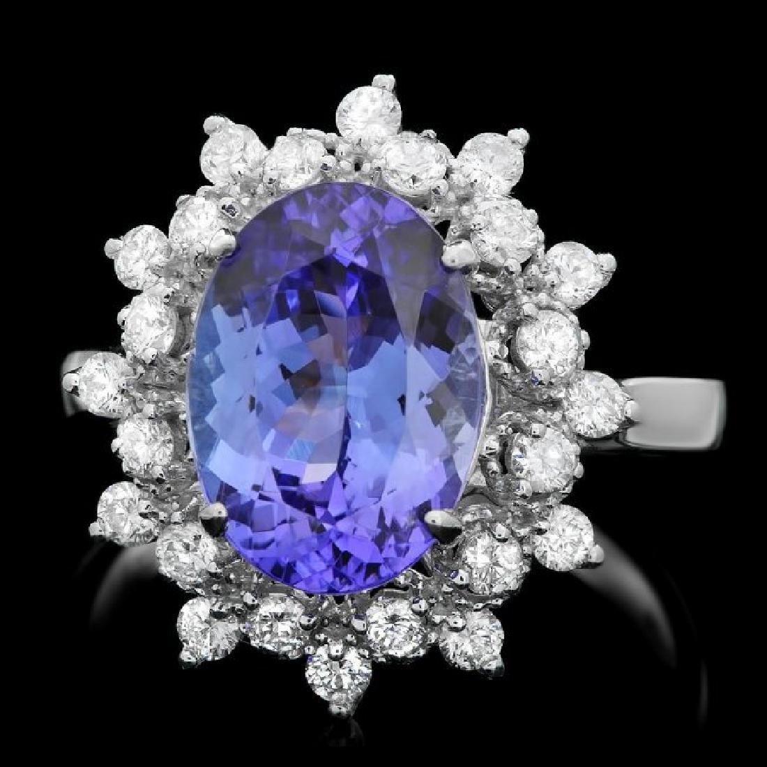 14k Gold 3.50ct Tanzanite 0.60ct Diamond Ring