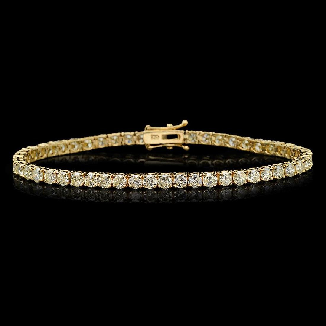 18K Gold 7.85ct Diamond Bracelet