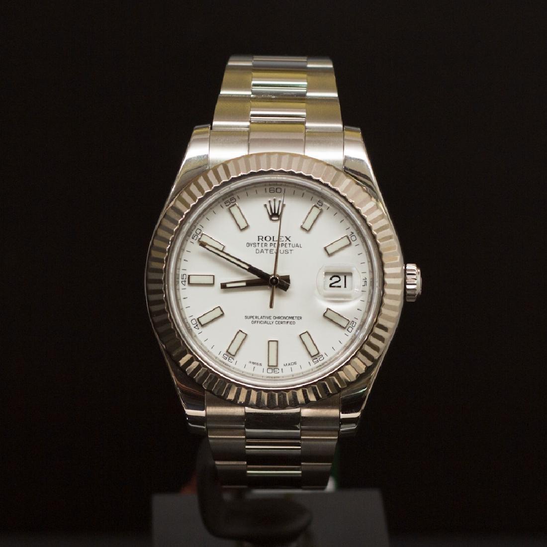 Rolex Stainless Steel Datejust II 40mm Men's Wristwatch