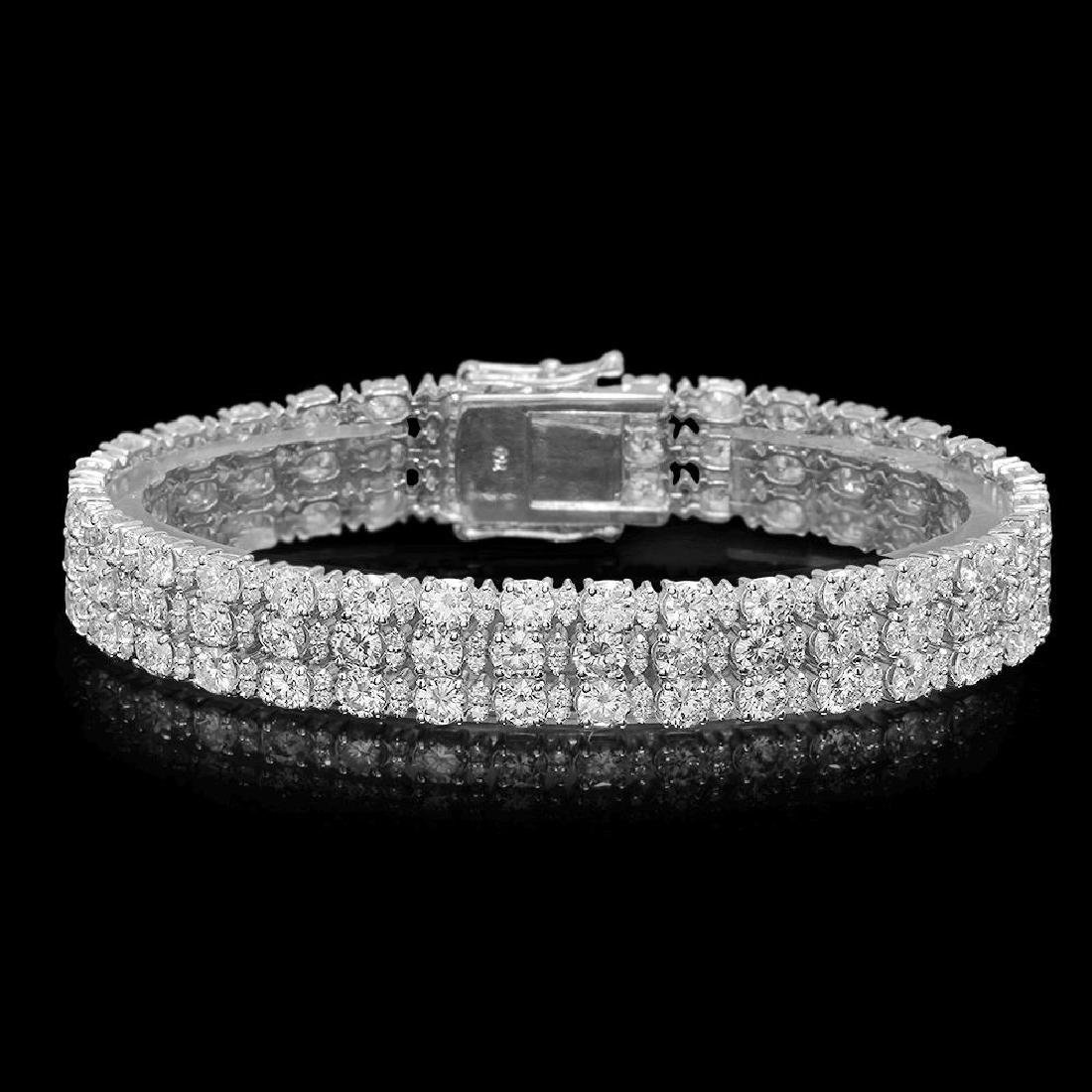 18K Gold 16.95ct Diamond Bracelet