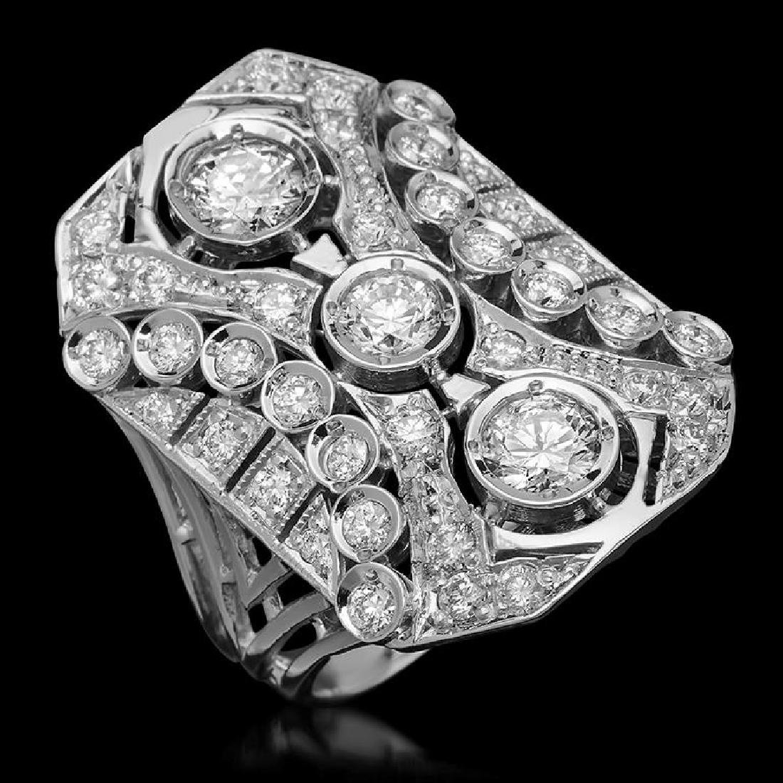 14K Gold 2.52ct Diamond Ring