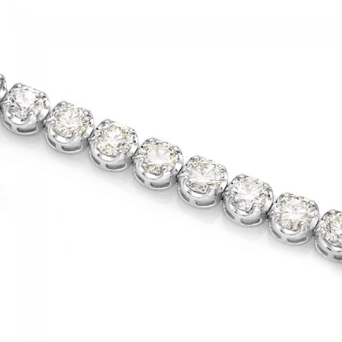 18k White Gold 9.00ct Diamond Tennis Bracelet - 3