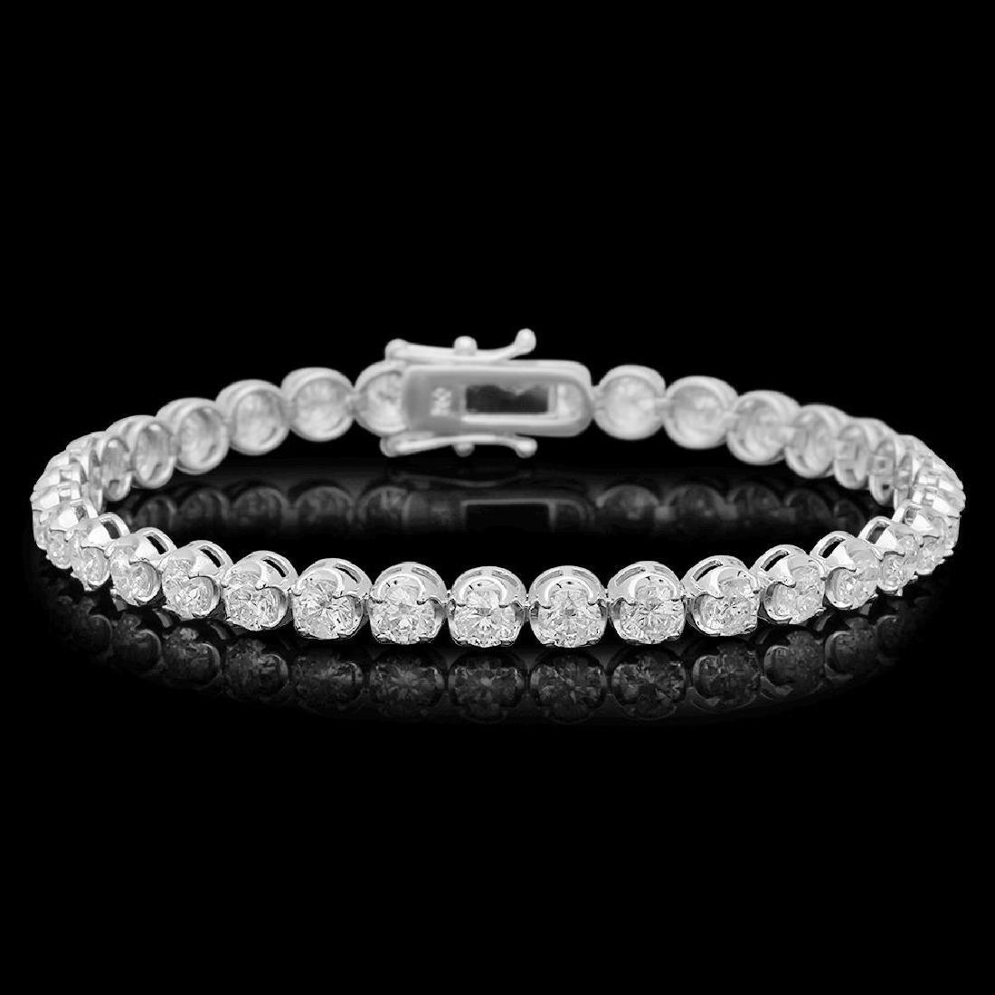 18K Gold 8.67ct Diamond Bracelet