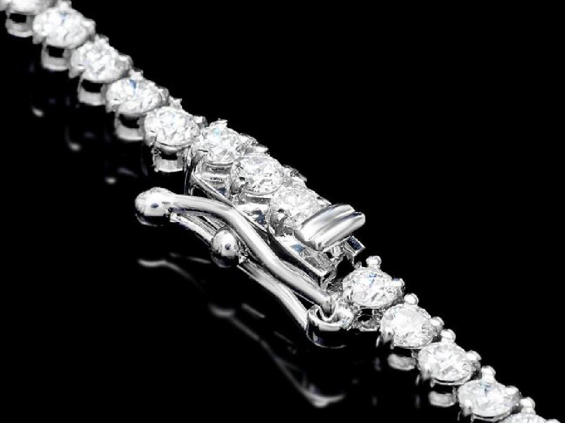 18k White Gold 8.50ct Diamond Necklace - 4