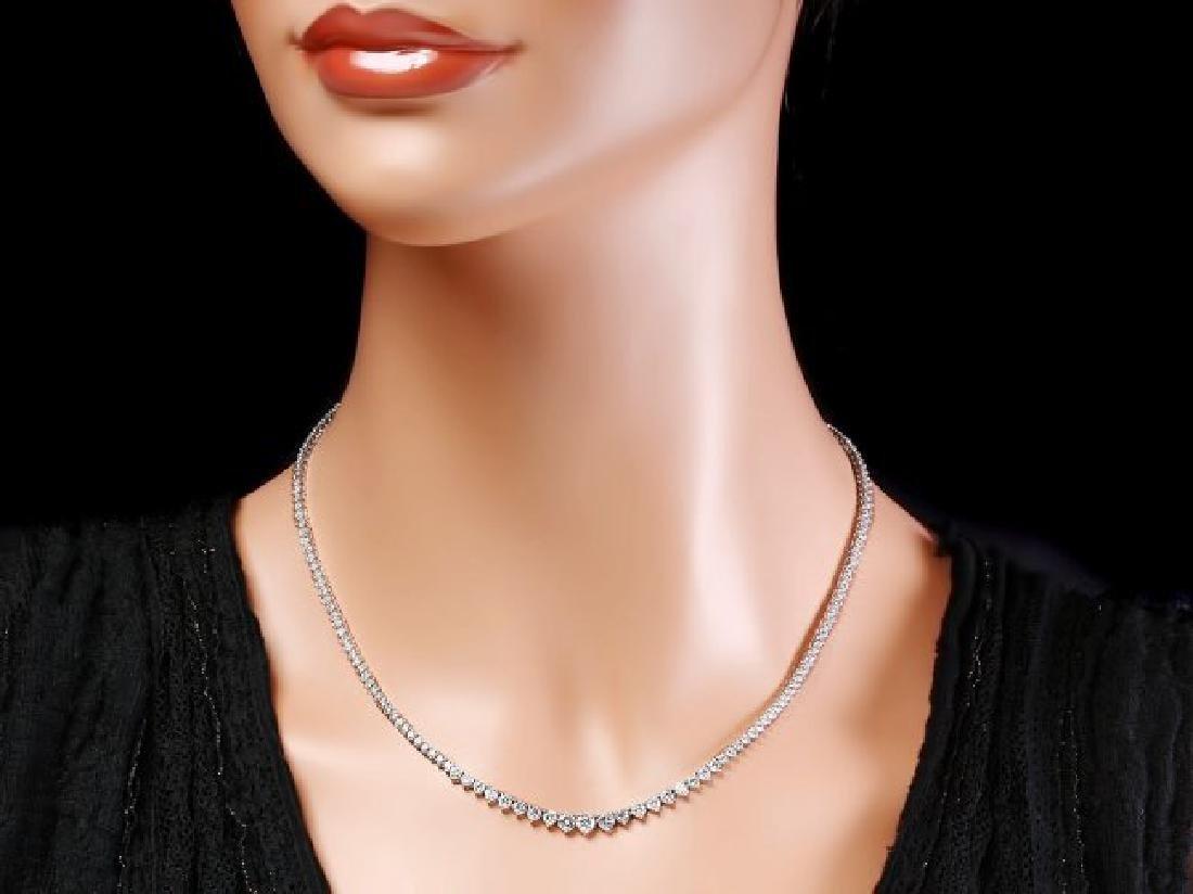 18k White Gold 8.50ct Diamond Necklace - 5