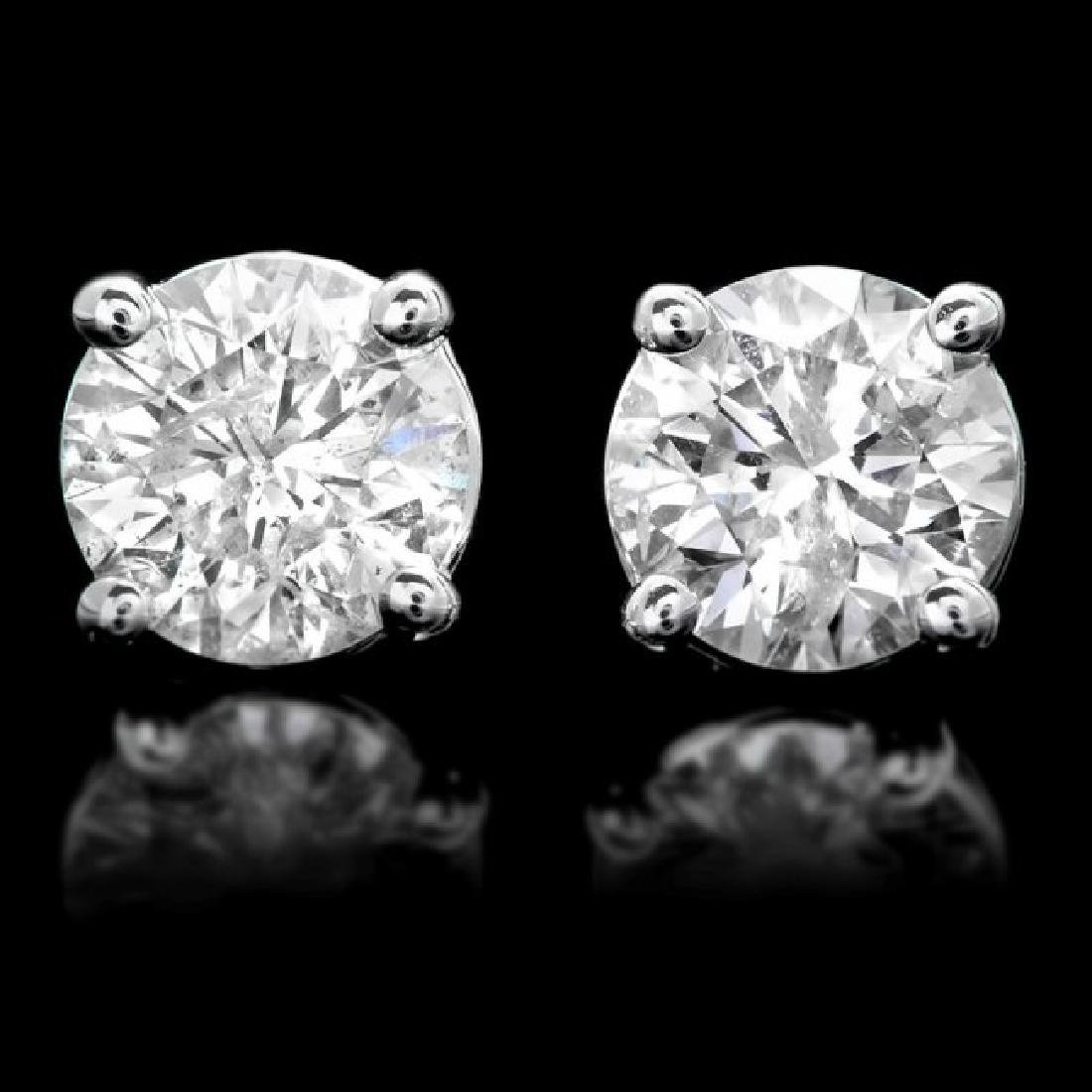 14k White Gold 1.50ct Diamond Earrings