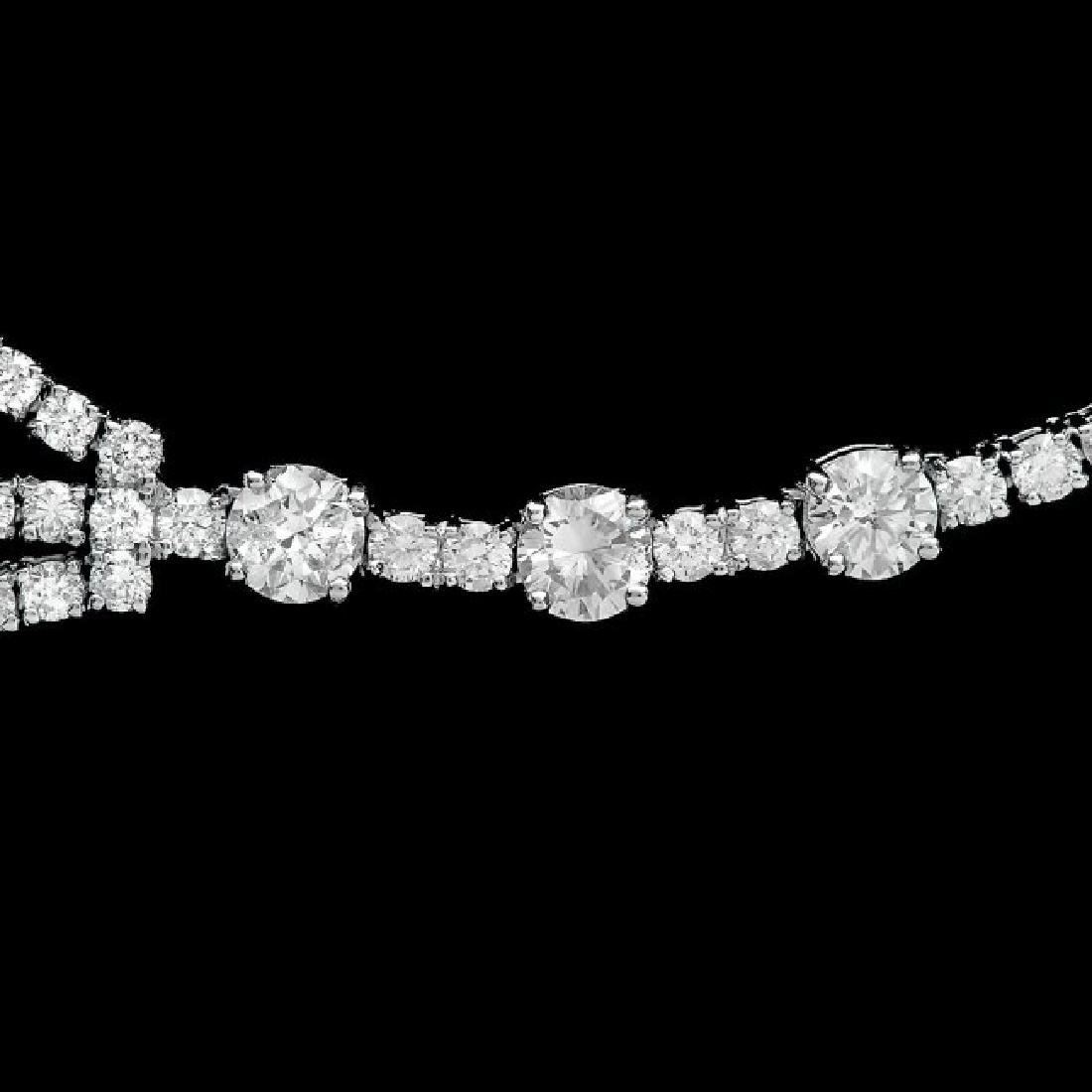 18k White Gold 12.90ct Diamond Necklace - 4