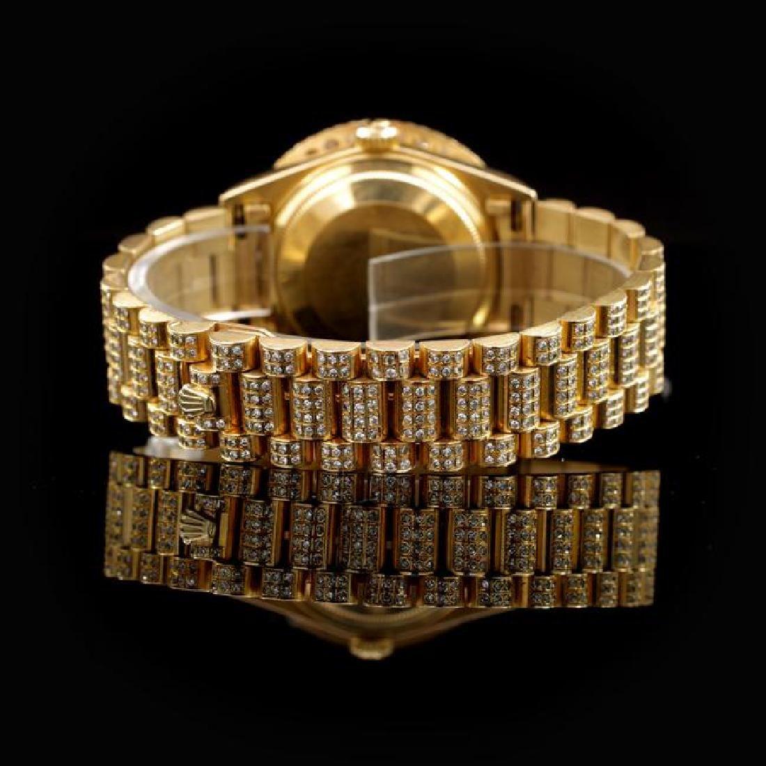 Rolex Day-Date 36mm Yellow Gold Mens Diamond Wristwatch - 3