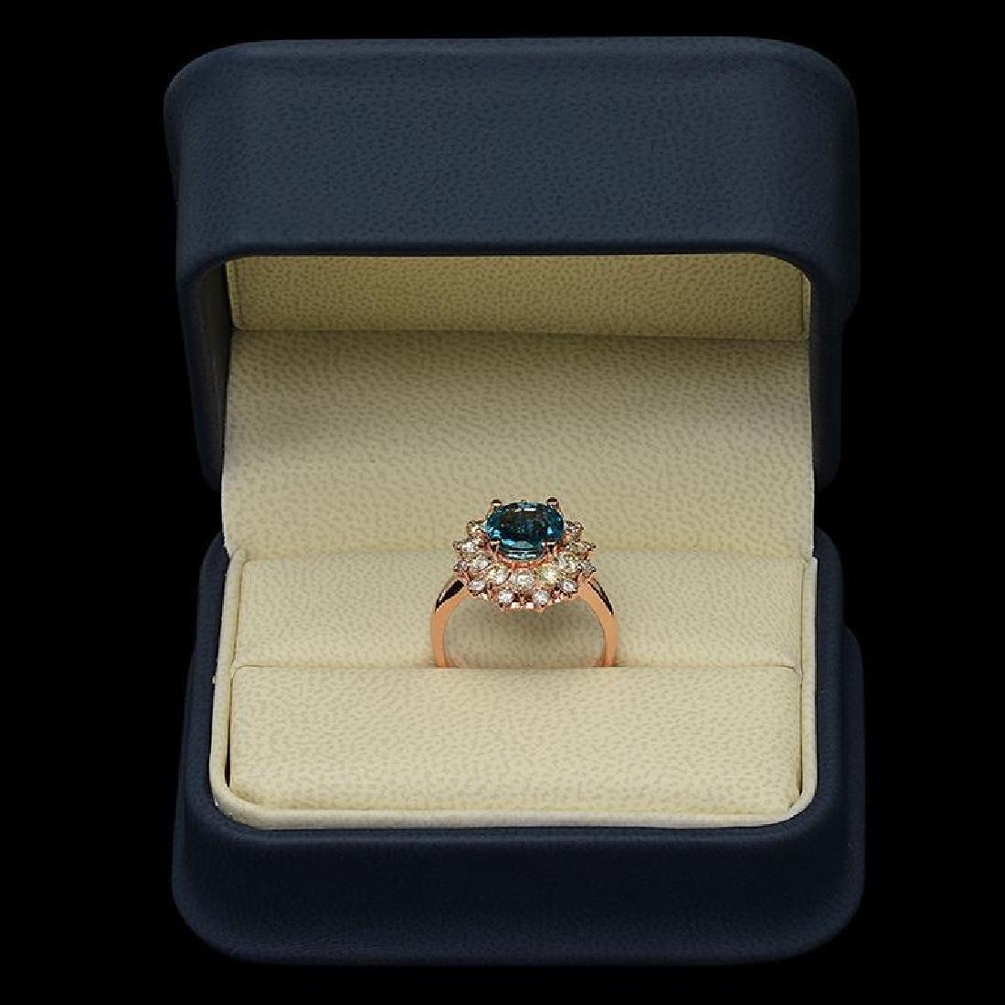 14k Gold 3.07ct Zircon & 1.51ct Diamond Ring - 3