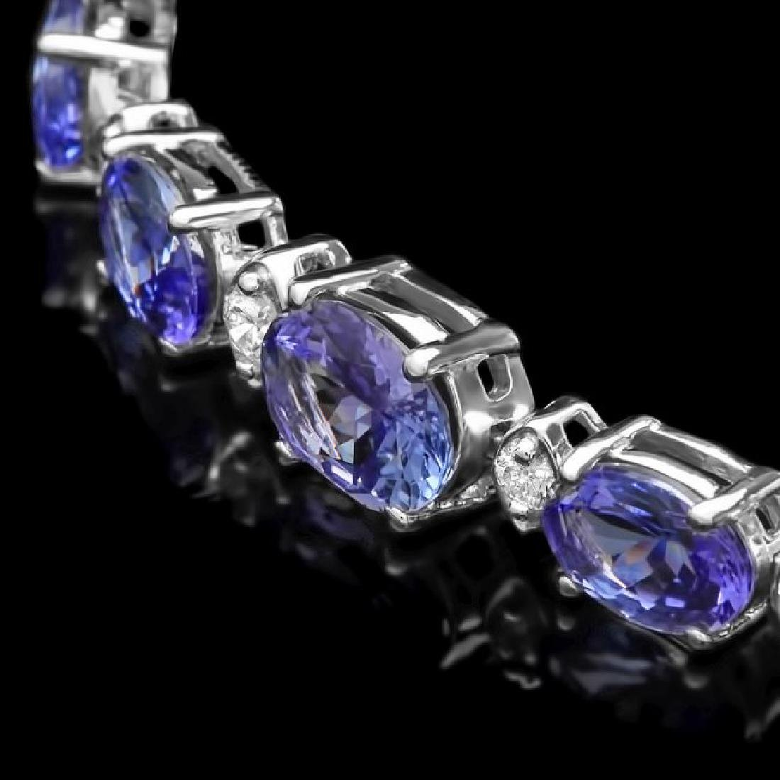 14k 11.00ct Tanzanite 0.75ct Diamond Bracelet - 2