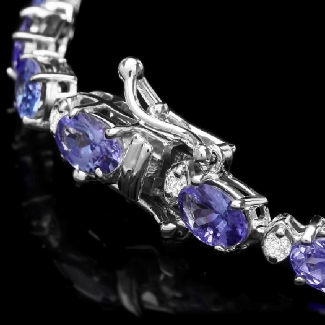 14k 11.00ct Tanzanite 0.75ct Diamond Bracelet - 3