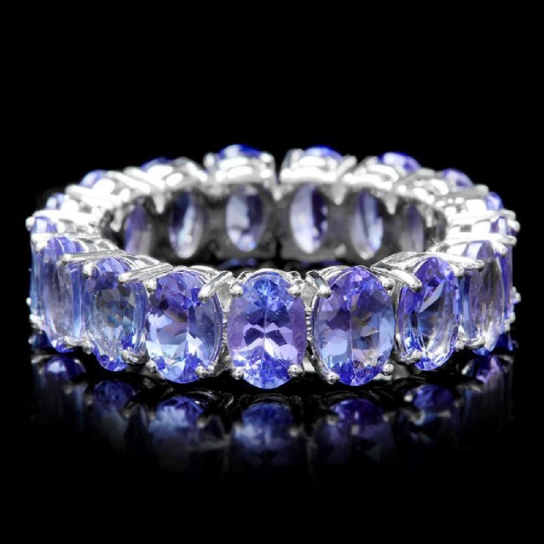 14k White Gold 8.00ct Tanzanite Ring