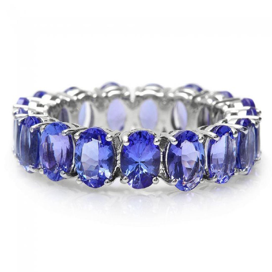 14k White Gold 8.00ct Tanzanite Ring - 2