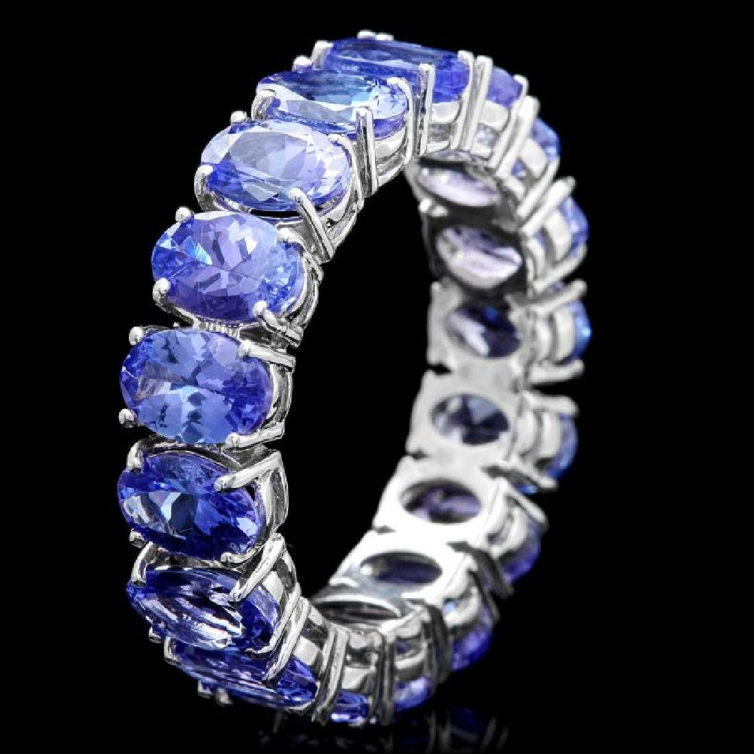 14k White Gold 8.00ct Tanzanite Ring - 3