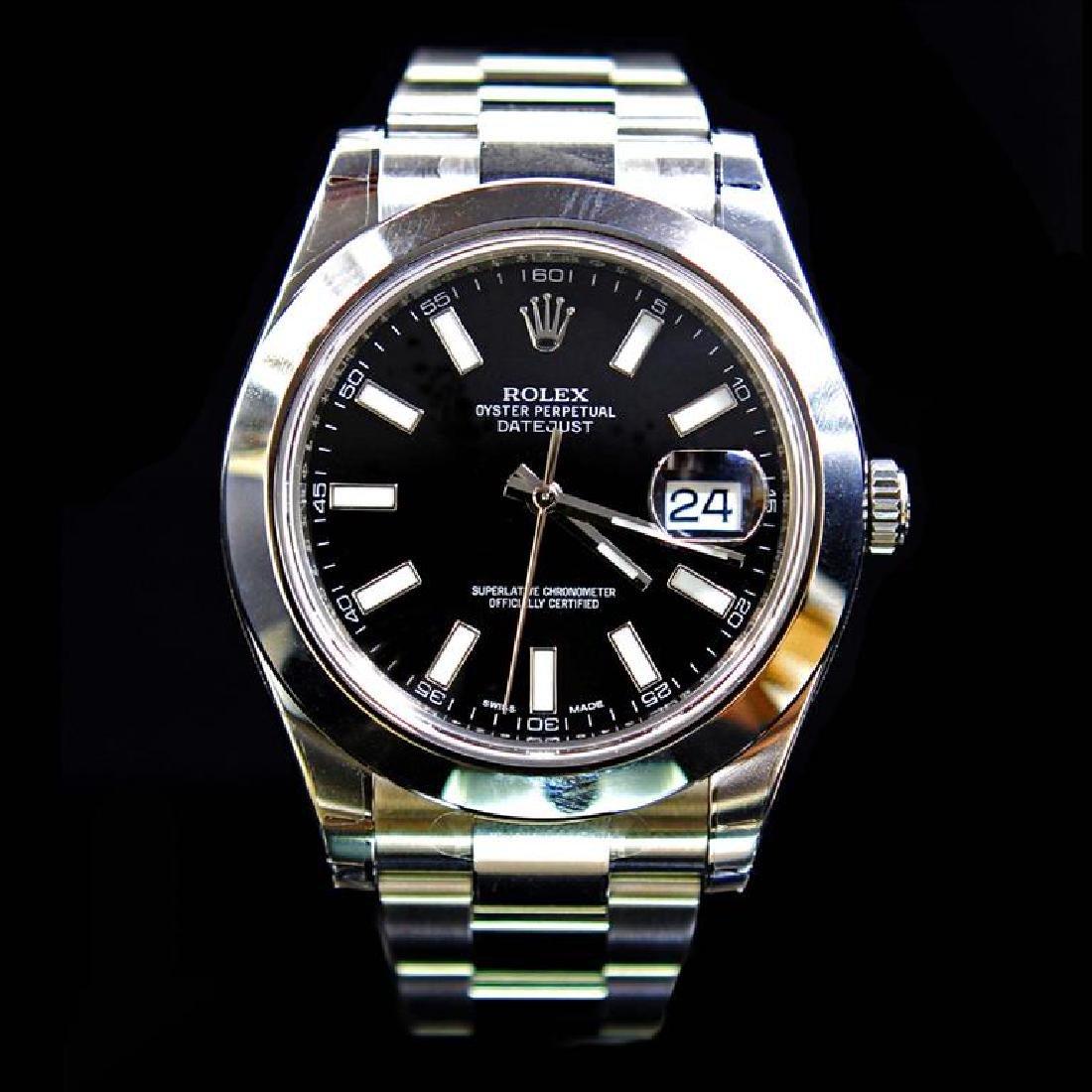 Rolex DateJust ll 41mm Black Index Dial Men's