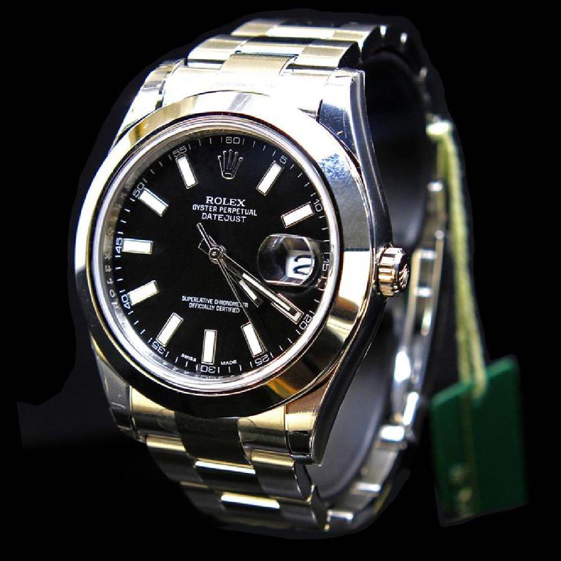 Rolex DateJust ll 41mm Black Index Dial Men's - 2