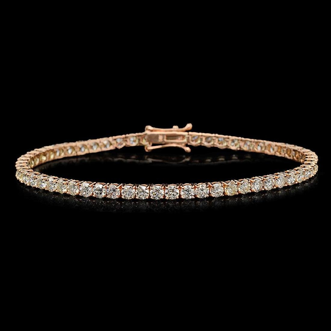 14K Gold 6.28ct Diamond Bracelet