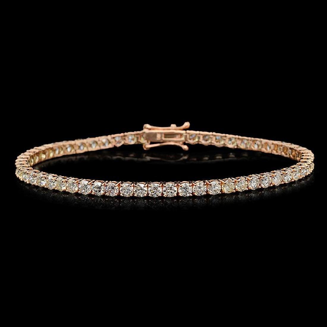14K Gold 6.28ct Diamond Bracelet