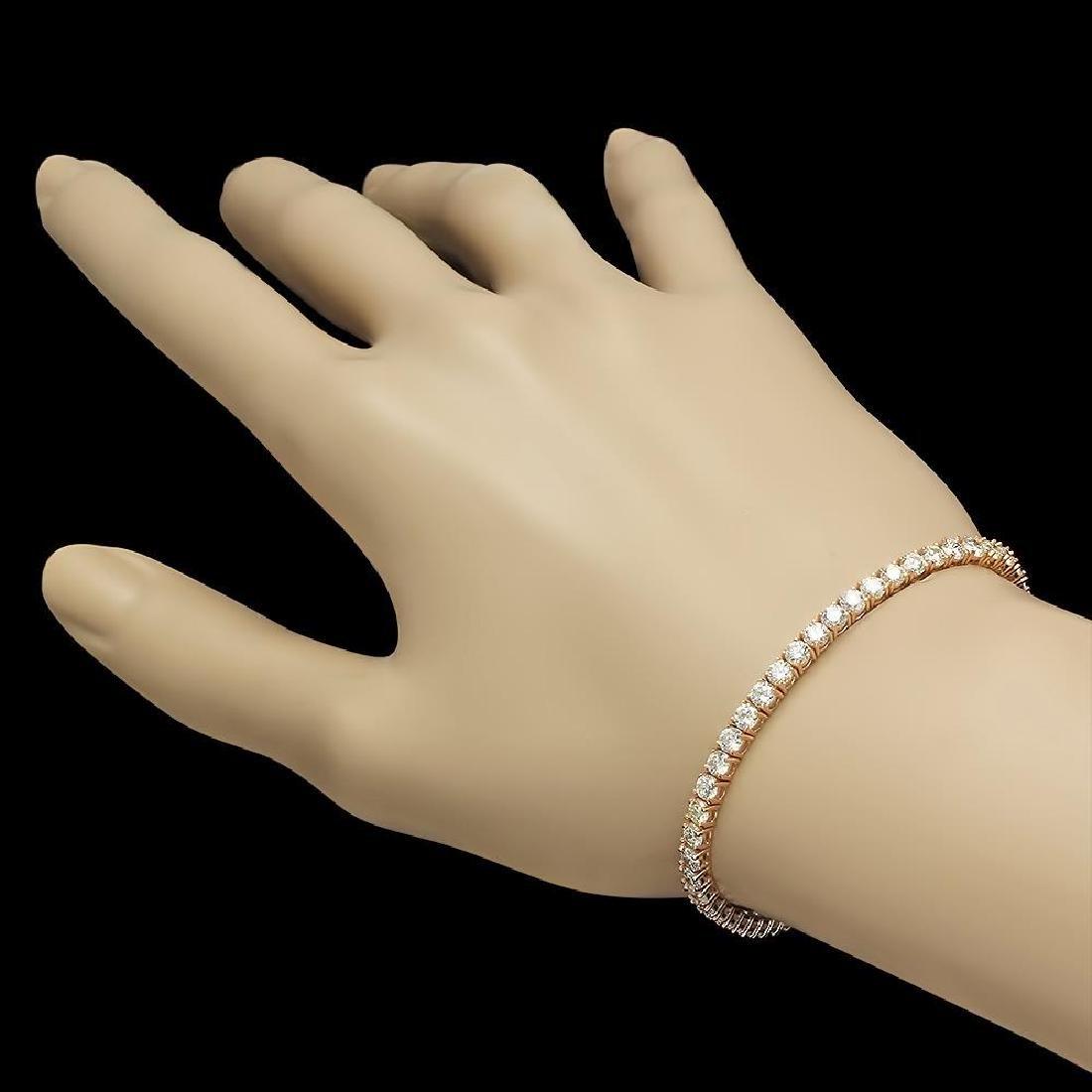14K Gold 6.28ct Diamond Bracelet - 2