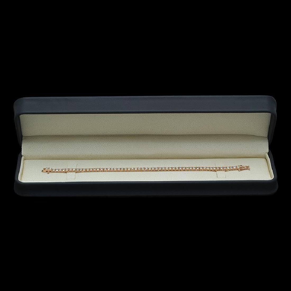 14K Gold 6.28ct Diamond Bracelet - 3