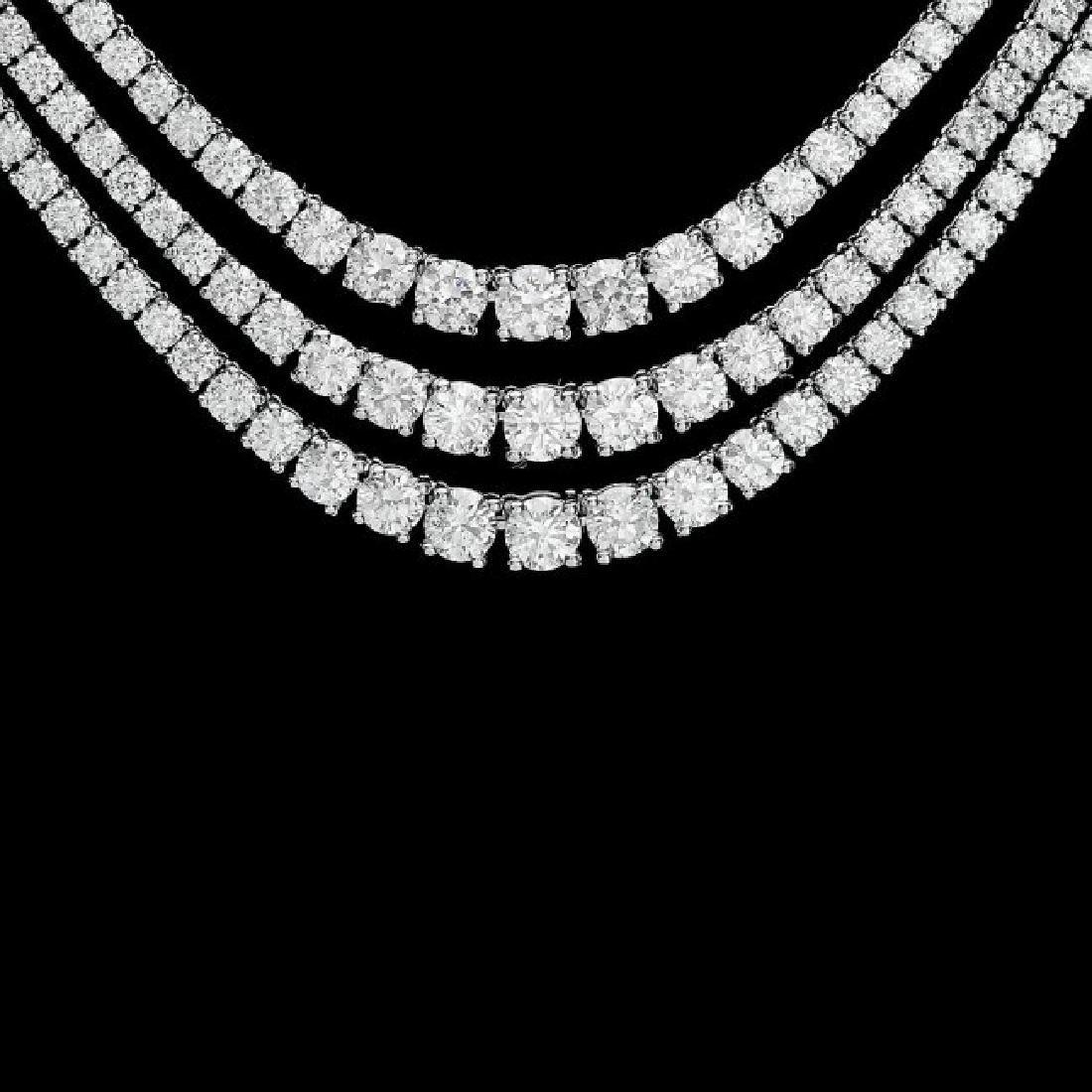 18k White Gold 23.10ct Diamond Necklace - 2