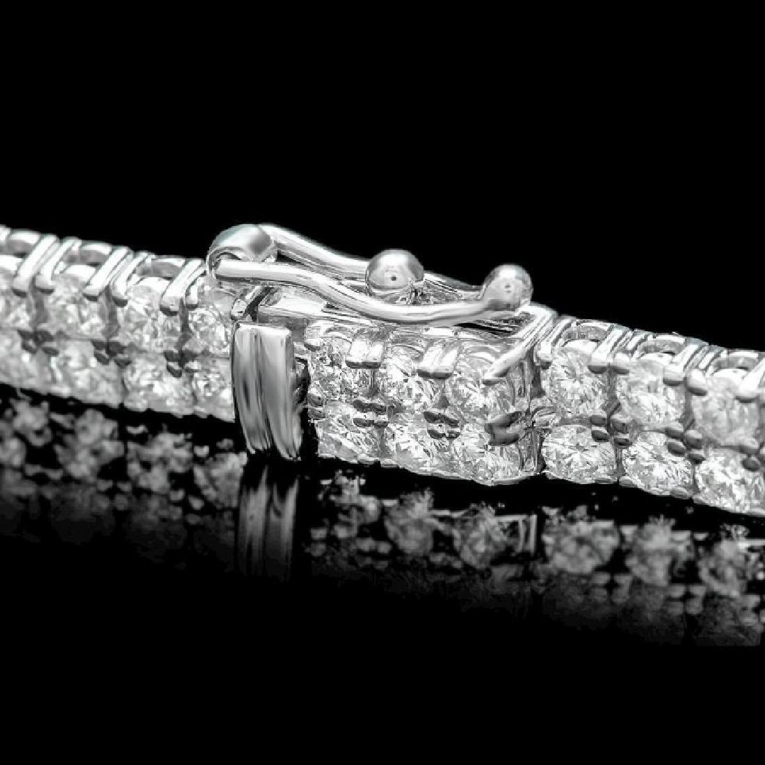 18k White Gold 23.10ct Diamond Necklace - 3