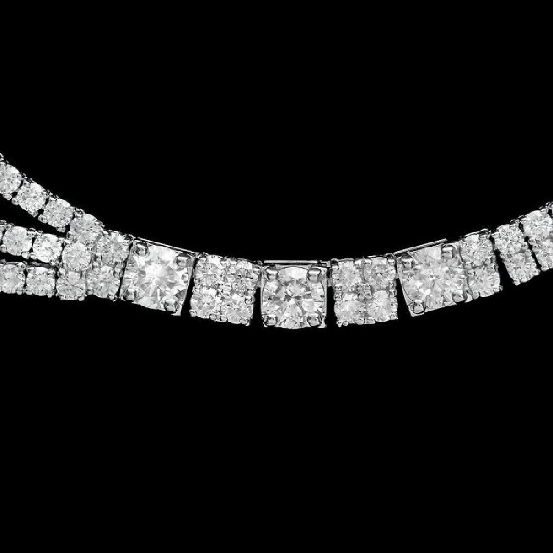 18k White Gold 23.10ct Diamond Necklace - 4