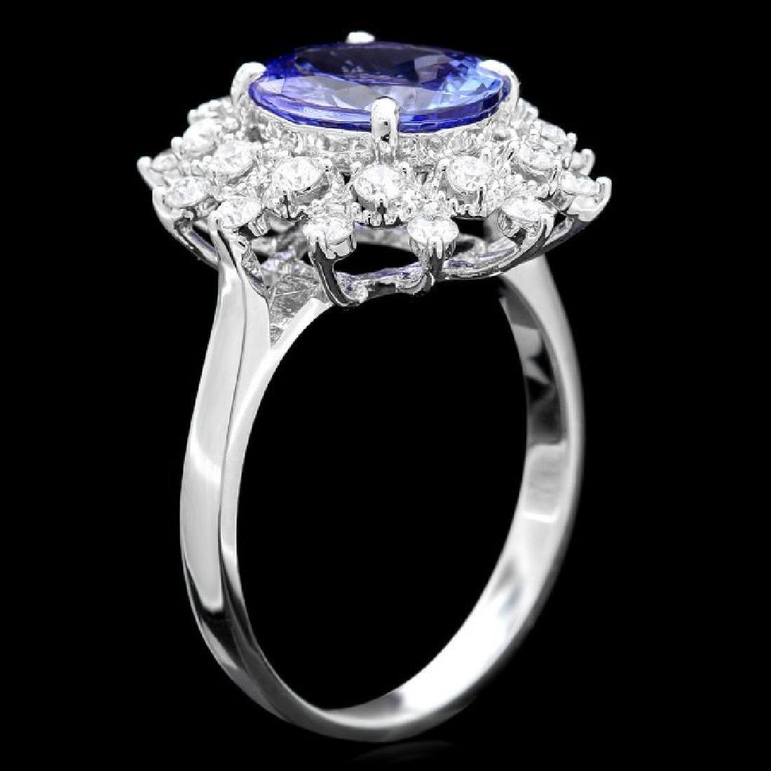 14k Gold 2.60ct Tanzanite 0.65ct Diamond Ring - 3