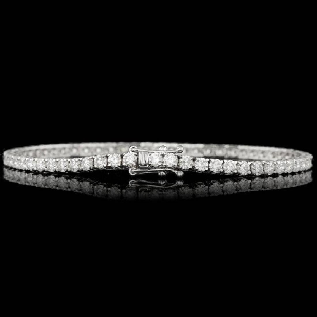 18k White Gold 5.30ct Diamond Bracelet - 3