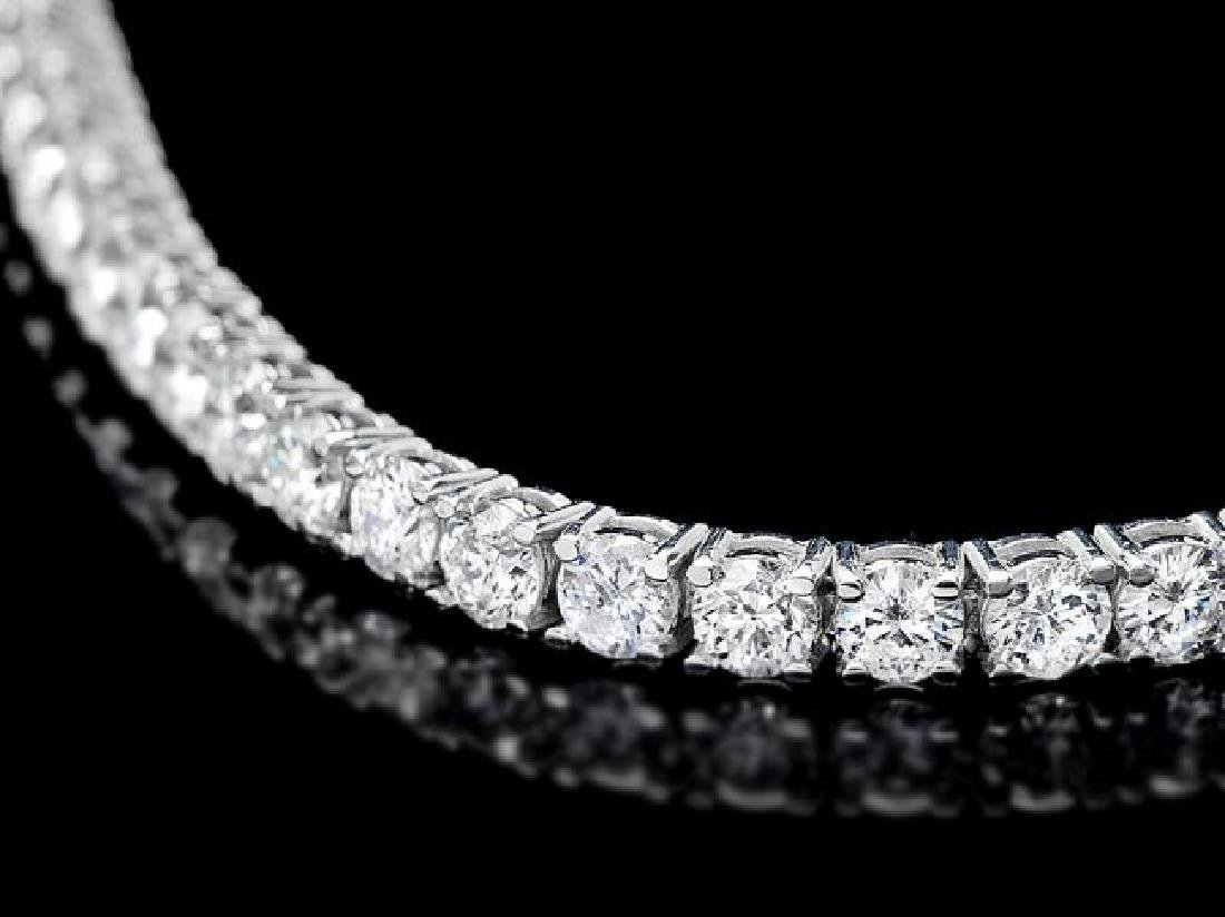 18k White Gold 7.50ct Diamond Bracelet - 2