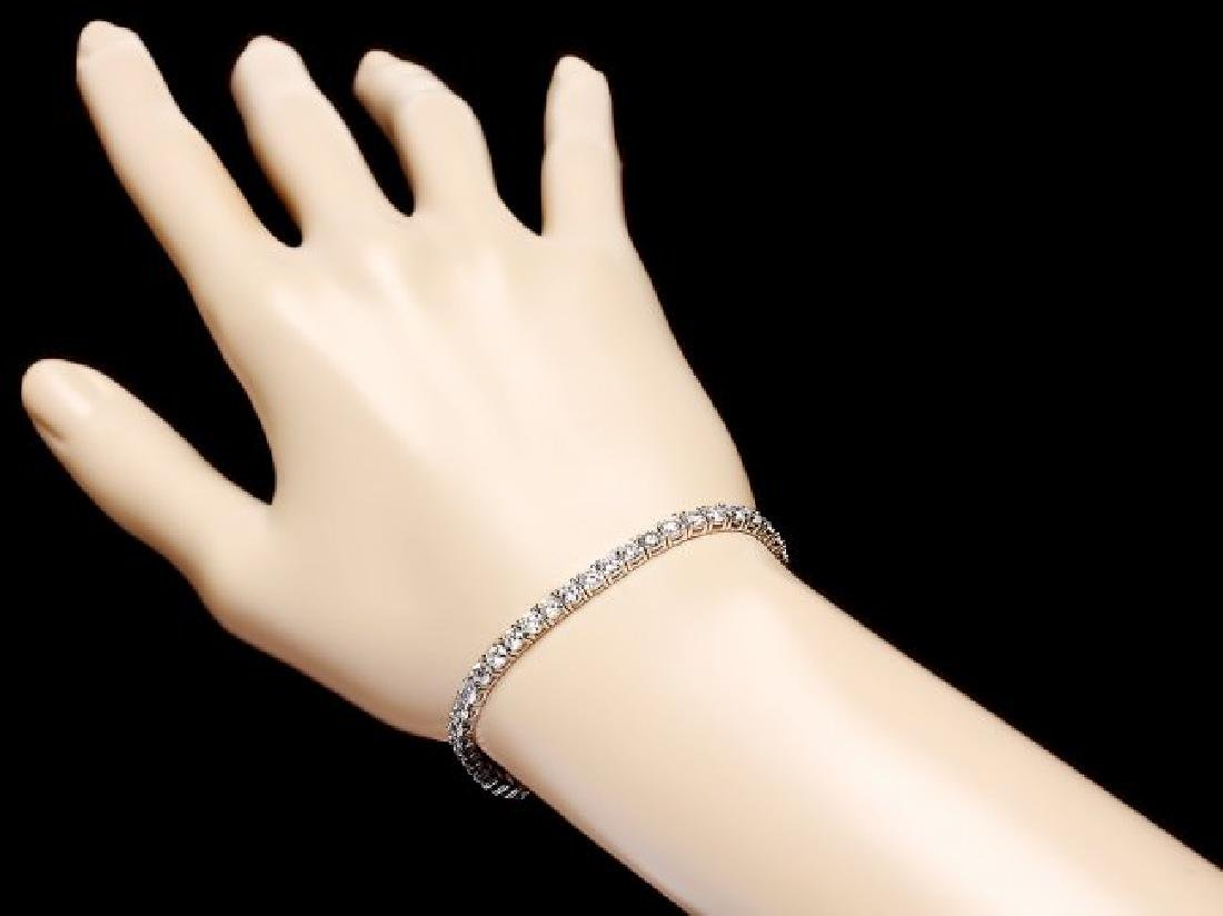 18k White Gold 7.50ct Diamond Bracelet - 5