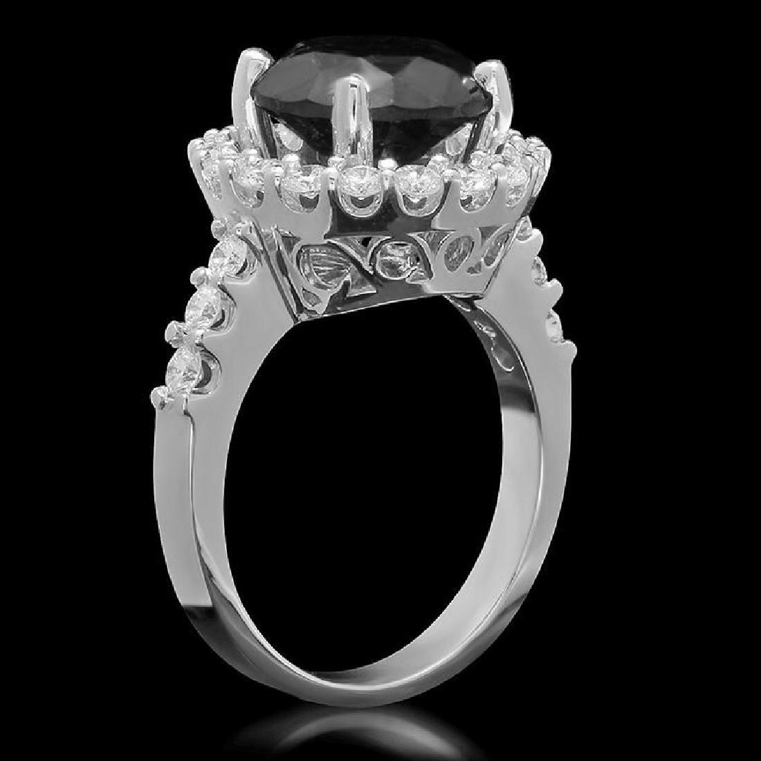 14K Gold 4.35ct Fancy Color Diamond 3.35ct Diamond Ring - 2
