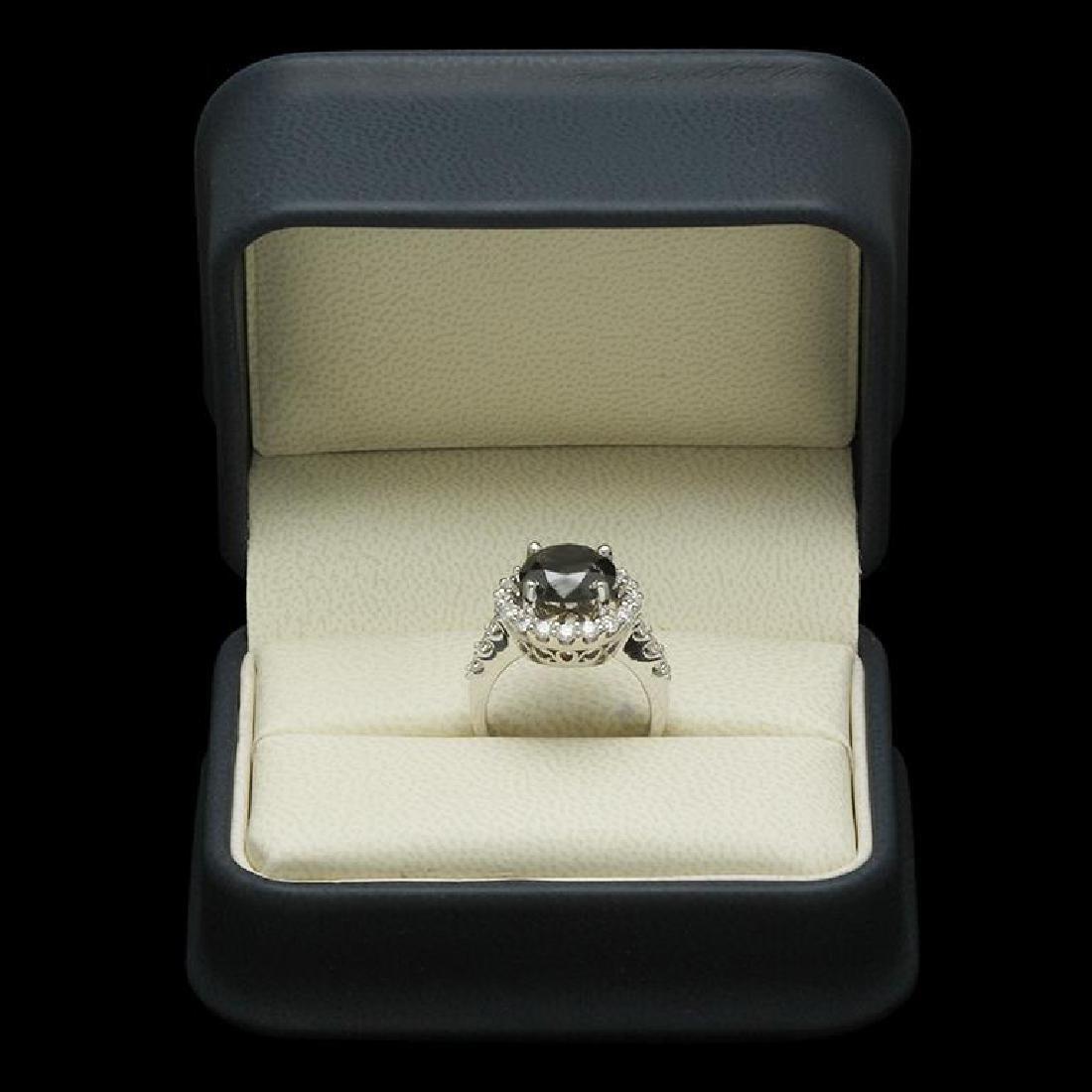 14K Gold 4.35ct Fancy Color Diamond 3.35ct Diamond Ring - 3